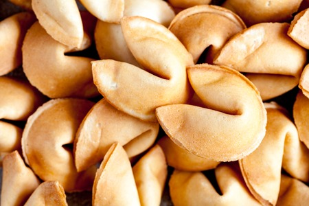 Many Chinese fortune cookie close up filling the entire frame Stock Photo