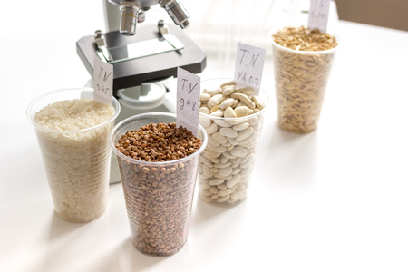 pesticides: Tests for pesticides in cereal in at laboratory no one
