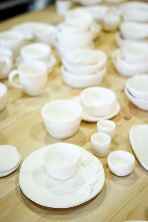 finished: workshop production of ceramic tableware finished products