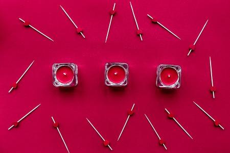 Rood kleurontwerp voor romantisch met hart bovenaanzicht