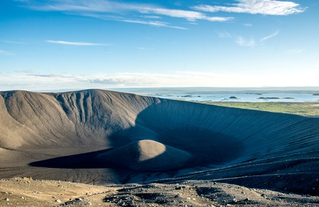 Hverfjall volcanic crater near lake Myvatn in Iceland Stock fotó - 84915370