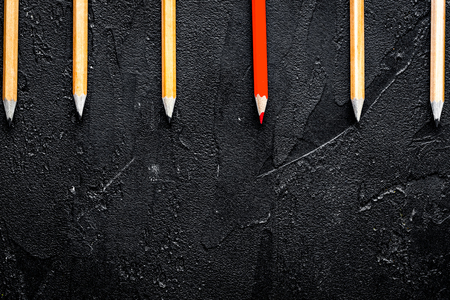 concept selection options with pencils on dark background top vi