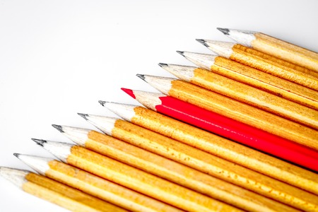 concept selection options with pencils on white background top v Stock Photo