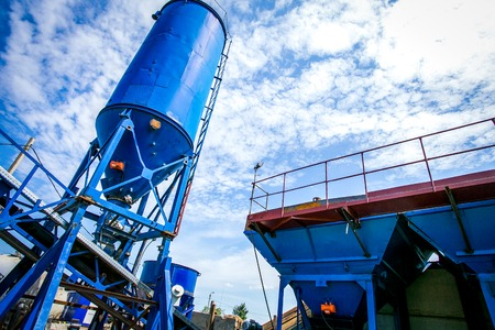 Cement production in quarry 版權商用圖片
