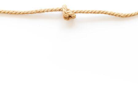 rope frame on white background top view mock up Reklamní fotografie