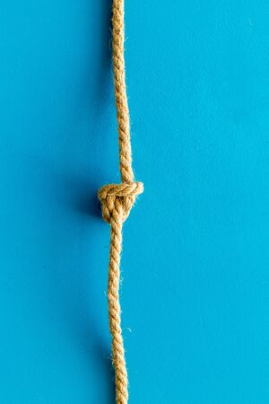isolated rope mockup on blue background top view