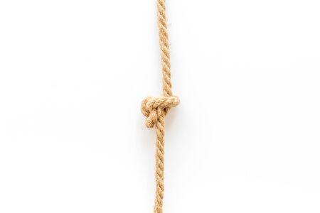 isolated rope mockup on white background top view 写真素材