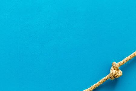 isolated rope mock up on blue background top view . 写真素材