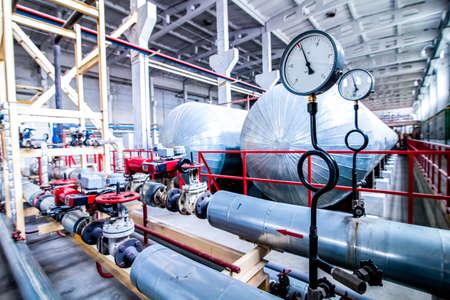 temperature and pressure sensor near autoclave at factory Banque d'images