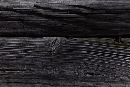 Close-up view of burnt wood