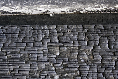 Close up view of charred wood Stock Photo - 117561295