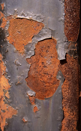 Close view of rusty metal pole 写真素材