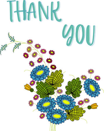 Thank you Gratitude Flowers and leaves. Trendy Typography Vector Background for Greeting Cards, Postcards, Poster, Flyers, Social Media. Awesome thank you design concept