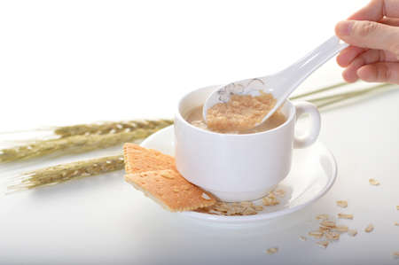 bourgeoisie: A spoonful of milk cereal