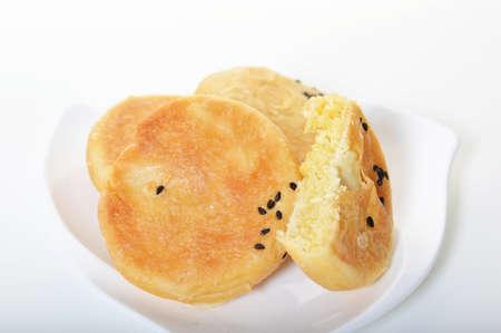 mung: Mung bean cake plate Stock Photo