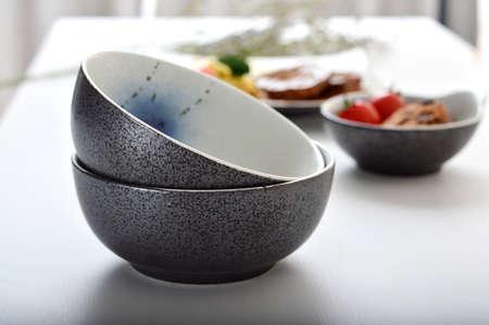 tableware life: Two Black Pearl hand-painted ceramic bowl