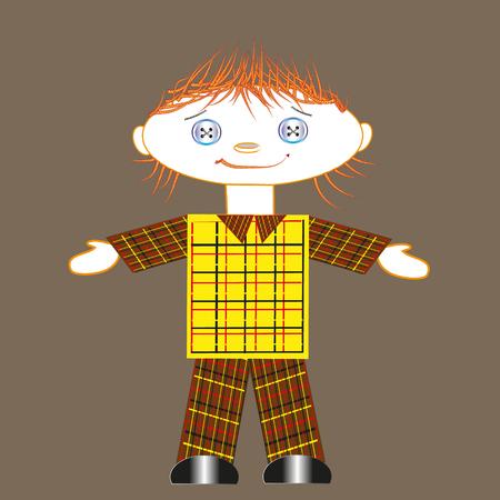rag doll: Rag doll boy Illustration