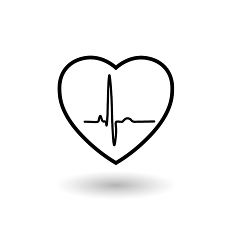 Heart rate and pulse Illustration