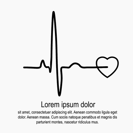 Heart rate and pulse Ilustrace