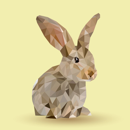 Easter bunny with trianglesEaster bunny on a pastel background with shadow