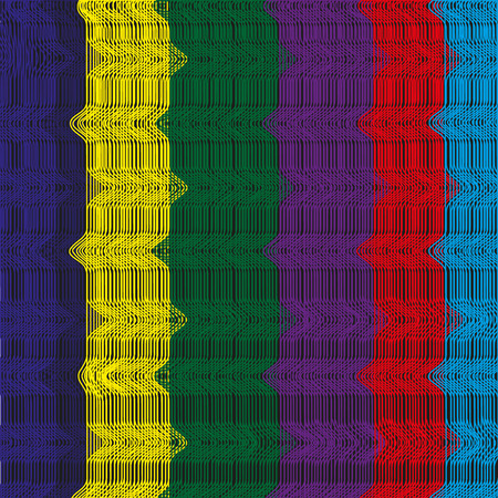 fishnet: Background of colored thread Image fishnet bright filaments slightly twisted on a black background Illustration