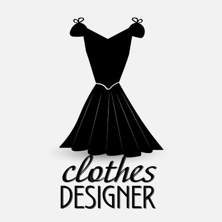 designer clothes: Logo for designer clothes The prototype for the logo designer clothes - a black dress with the words Illustration