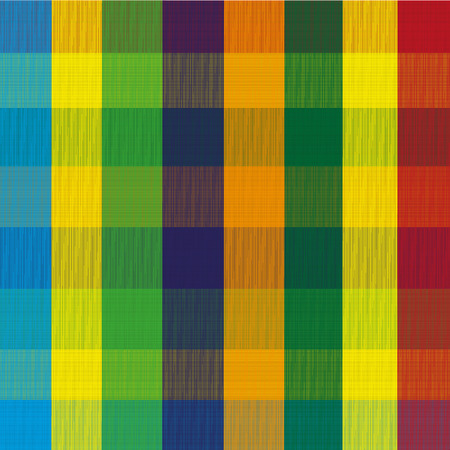 the substrate: Pattern color bars Illustration background bright stripes that emit colored triangles and squares on a black substrate