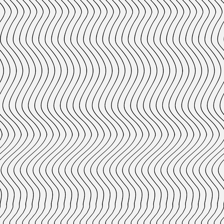 Abstract pattern stripes Abstract pattern thin black wavy lines on a white background