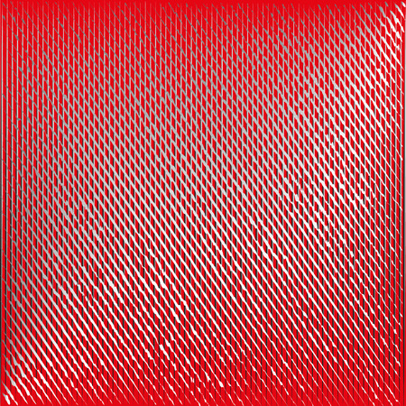 mottled: Drawing mottled texture Drawing mottled texture gray white intersecting lines on a red background volume effect for design or decoration