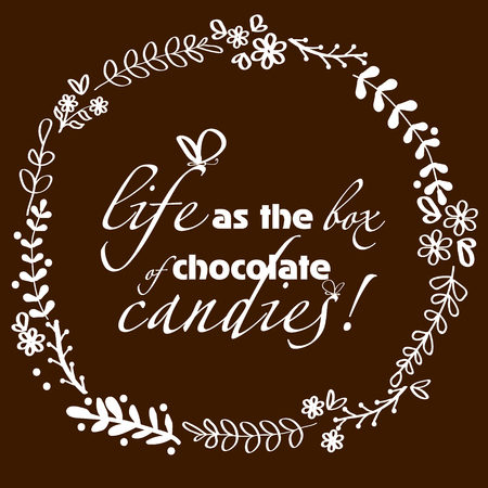 image size: Picture handmade chocolate background Picture white pattern handmade chocolate background with an inscription and a butterfly can be used for decoration and design