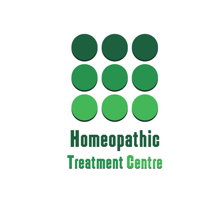 homeopathic: Illustration therapeutic homeopathic center Logo therapeutic homeopathic center green logo on a white background isolated for decoration and design
