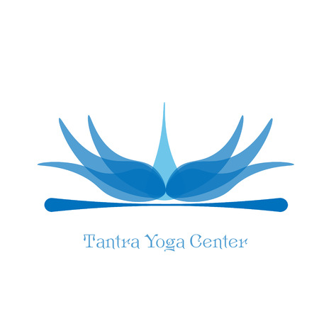 tantra: Tantra Yoga Center Logo for the center of Tantric Yoga in the form of a blue lotus for design
