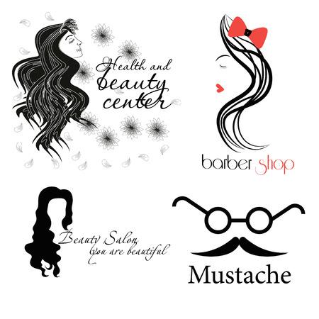 beauty center: Health and beauty center set Illustration