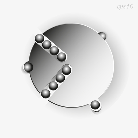 conundrum: Geometry abstraction mechanics Circle shadow gray ball decoration design logo author image original object handmade conundrum illusion of an exclusive fantasy eps10 illustration stock vector