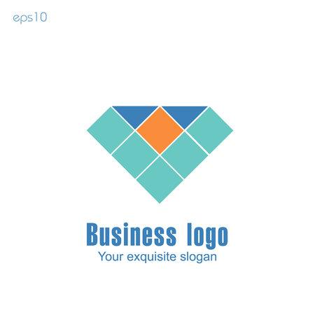 Business logo on white background for design.