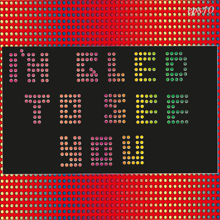 Text perforation bright Abstraction print perforation inscription
