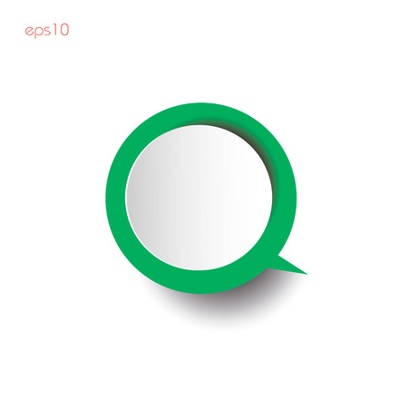 Green infografic with shadow Paper circles green thinking with shadow on white background for business ideas infographics logo design websites printing color