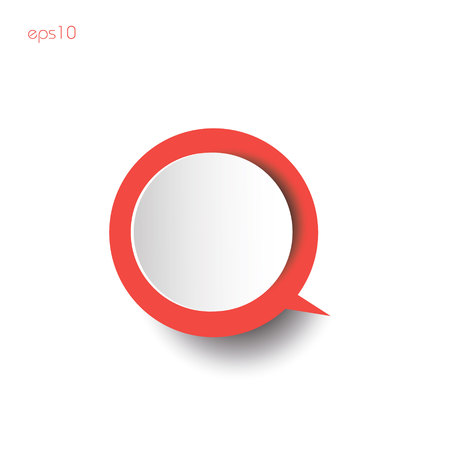 Red infografic with shadow Paper circles red thinking with shadow on white background for business ideas infographics logo design websites printing color Ilustrace
