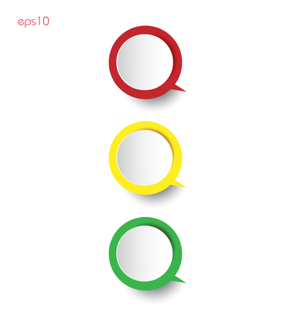 Traffic light on a white background infographics Paper circles with ponytail thinking shadow on white background for business ideas infographics logo design print sites Ilustrace