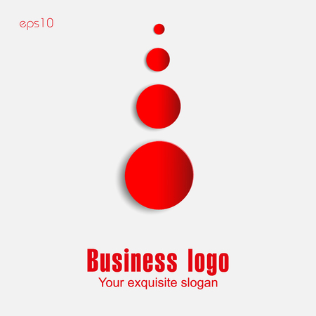 Paper red round in white Red paper circles round with a shadow on a white background for business ideas infographics logo design print sites