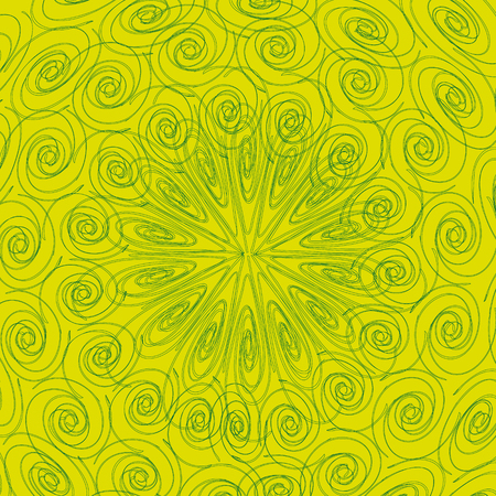 Openwork pattern curl Abstraction of a green background