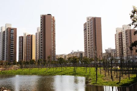 superficie: Desarrollo de la zona de residencia Foto de archivo