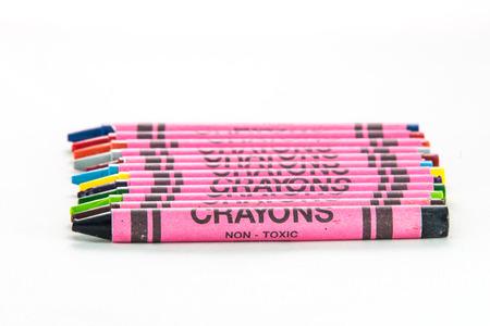 non toxic: paquete de l�pices de colores Foto de archivo