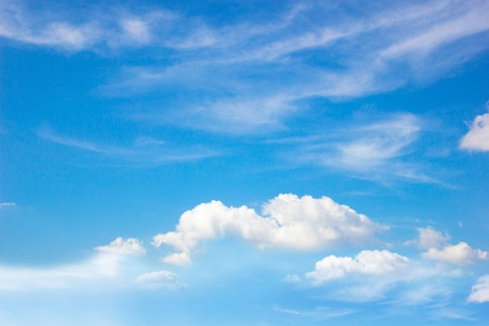 Blue sky with clouds Stock Photo - 17131137