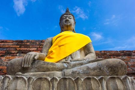 Stone Ancient Buddha statue Stock Photo - 17131194
