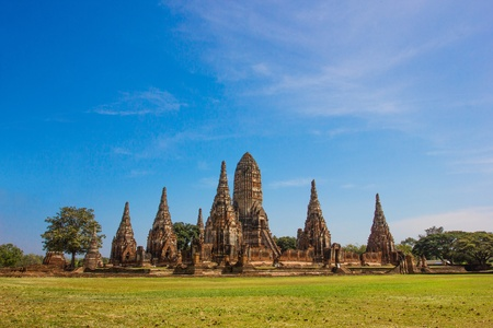 Ancient Temple of Ayutthaya city at Thailand  and Ayutthaya are Used to be the capital of Thailand Stock Photo - 17131188