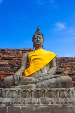 Stone Ancient Buddha statue Stock Photo - 17186220