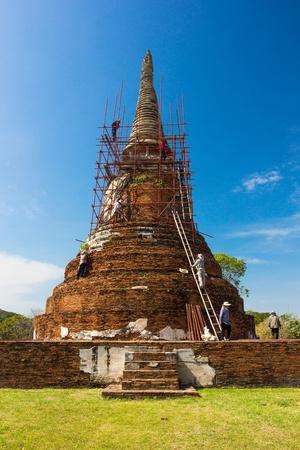 actuary: Wat Mahathat  Temple of Ayutthaya Historical, Thailand