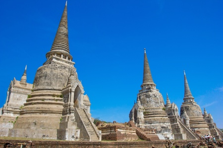 actuary: Wat Phra Si Sanphet  Temple of Ayutthaya Historical, Thailand