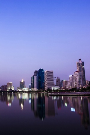 scenical: cityscape and towers with twilight